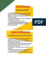 Entrevistas en Ingles 1