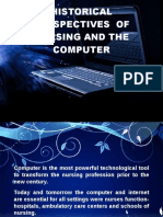 Major Historical Perspectives of Nursing and Computer