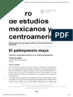 Representaciones del espacio político en las tierras altas de Guatemala - El palimpsesto maya - Centro de estudios mexicanos y centroamericanos.pdf