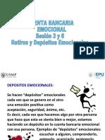 Sesión 3 y 6 Depósitos y Retiros Emocionales Aceptar el cambio Prof. Cabrera.ppt