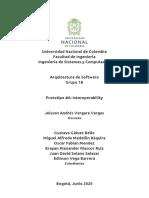 documento de descripción de arquitectura de software