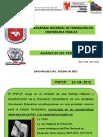 PRESENTACIÓN ALCANCE DE LOS TRAYECTOS DEL PNFCP.ACTIVIDAD-PRODUCTO.