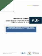 FORMATO DE PLAN INTEGRAL DE PREVENCION DE RIESGOS LABORALES