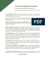 11 Caracteristicas de Los Empresarios Exitosos