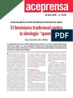 El feminismo tradicional contra el queer