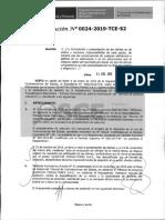 RESOLUCION N°024-2019-TCE-S2 (RECURSO APELACION)