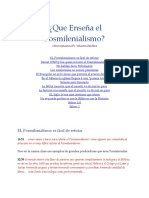 Respuesta a Ps Medina Posmilenialismo
