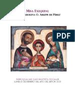 Misa Exequial d. Carolina Arizpe Feb2020