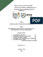 Informe Industria Del Calzado Arequipeño