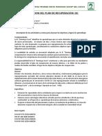 Adaptación Plan de Recuperación III DS 2020