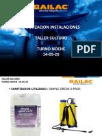 SANITIZACION INSTALACIONES BAILAC 18-05-20