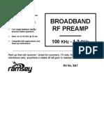 RF Preampliefier KIT SA7 100 Khz - 1.3 Ghz