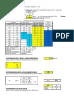 Dosificacion-Nch-170, datos probetas cilindricas
