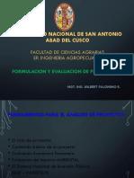 INTRODUCCIÓN AL FORMULACIÓN Y EVALUACIÓN DE PROYECTOS