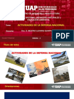 SEMANA 5 - ACTIVIDADES DE LA DEFENSA NACIONAL