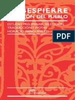 Horacio Sanguinetti - Robespierre La Razón Del Pueblo