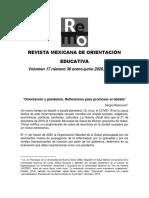 Rascovan, Sergio. Orientación y pandemia. Reflexiones para promover el debate-editor