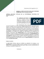 ABRAHAM CONSORCIO CASAMAT YOLINET AMPLIACION DESCARGO FIRMAS FALSAS BECAS ALIMENTARIAS UNH-2013