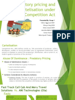 Predatory Pricing and Cartelisation under Competition Law