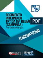 Regimento interno esquematizado TRT 15- revisado