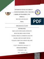 TECNICAS DE EXCAVACION