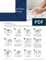 12 Steps for Proper Hand Washing Poster