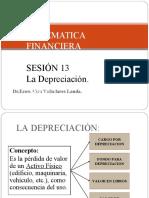SESION 13 MATEFIN DEPRECIACIONES DE ACTIVOS FÍSICOS 20181