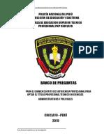 BANCO DE PREGUNTAS EXAMEN SUFICIENCIA PROFESIONAL PNP