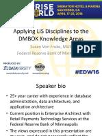 Applying LIS disciplines to the DMBOK