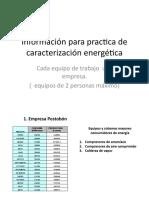 Información para Práctica de caracterización energética