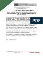 Comunicado 017 2020 Digesa Minsa