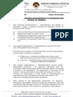 Minimum Requirements for GNM