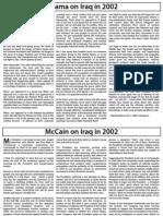 Obama vs. McCain on Iraq in 2002