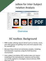 Matlab Toolbox for Inter-Subject Correlation Analysis