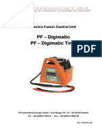 Digimatic Plasson Poly Welder Manual