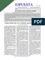 272 CADUCIDAD DE UNA MEDIDA CAUTELAR