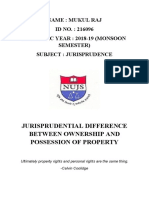 Mukul _Raj_216096_Jurisprudential Difference between Ownership and Possession