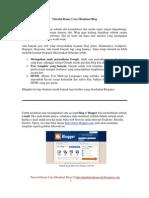 2 Tutorial Cara Membuat Blog Dari Blogspot