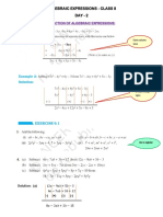 ALGEBRAIC EXPRESSIONS NOTES DAY-2
