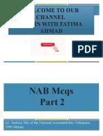 NAB MCQS part 2