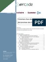 PTPTTLB31001 (Création d'un document CE et DOP)