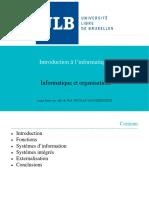 Informatique et organisations