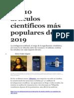 Los 10 artículos científicos más populares de 2019