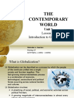THE CONTEMPORARY WORLD - Unit 1 (Lesson1 - Globalization Defined)