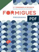 Programa Formigues Festival 2019