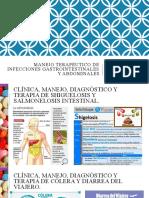 0001. MANEJO TERAPÉUTICO DE INFECCIONES GASTROINTESTINALES Y ABDOMINALES