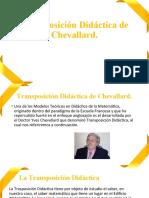 Transposición Didáctica de Chevallard