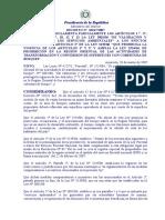 DECRETO REGLAMENTARIO DE LA LEY 3001