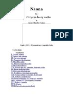 Nanna Lub O Życiu Duszy Roślin-polski-Gustav Theodor Fechner