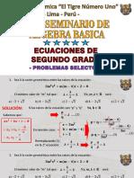 SEMINARIO DE ALGEBRA - ECUACIONES DE SEGUNDO GRADO.pdf